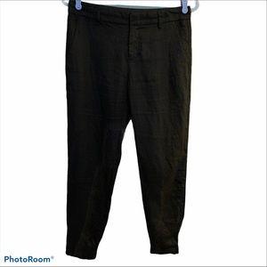 Vince Linen Trouser pant 2 zip fly slash pockets